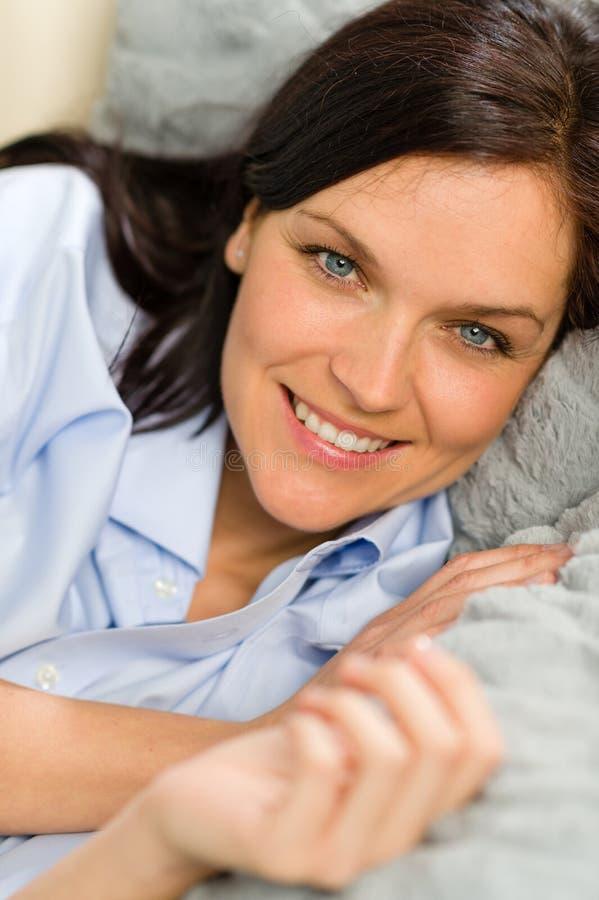 Slut upp av glat vila för kvinna
