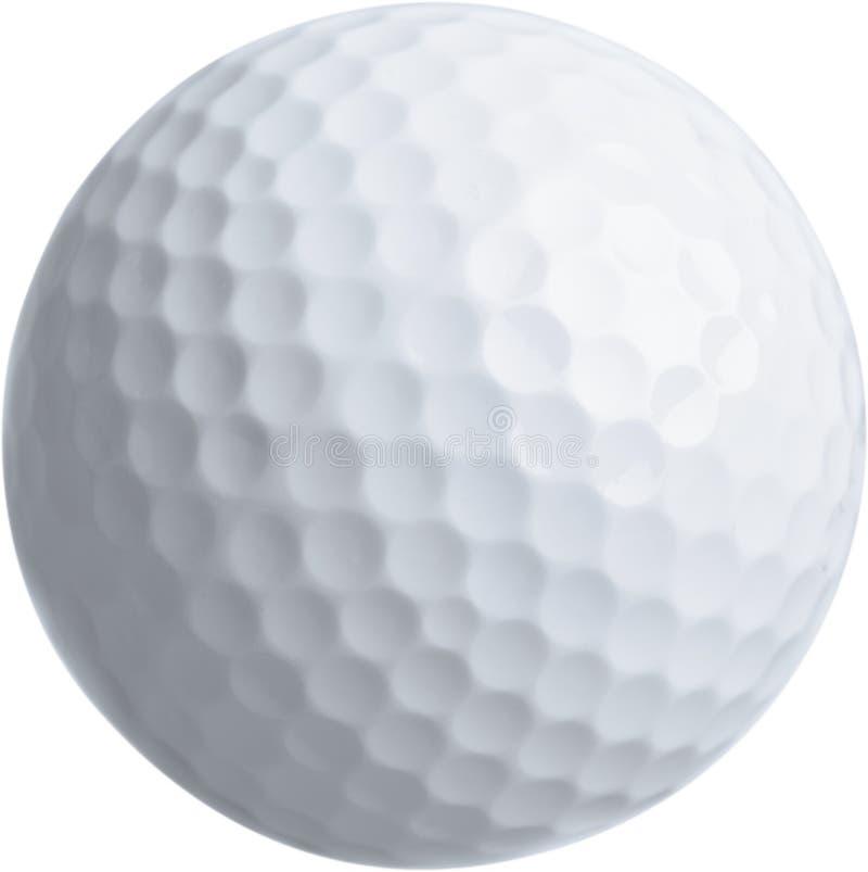 Slut upp av golfboll, isolerat på genomskinligt arkivbild
