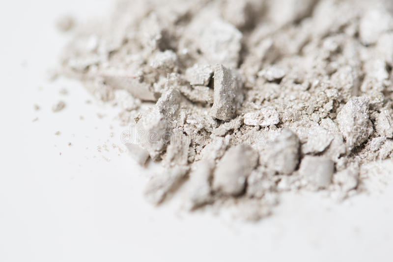 Slut upp av löst ögonskugga- eller makeuppulver royaltyfri fotografi