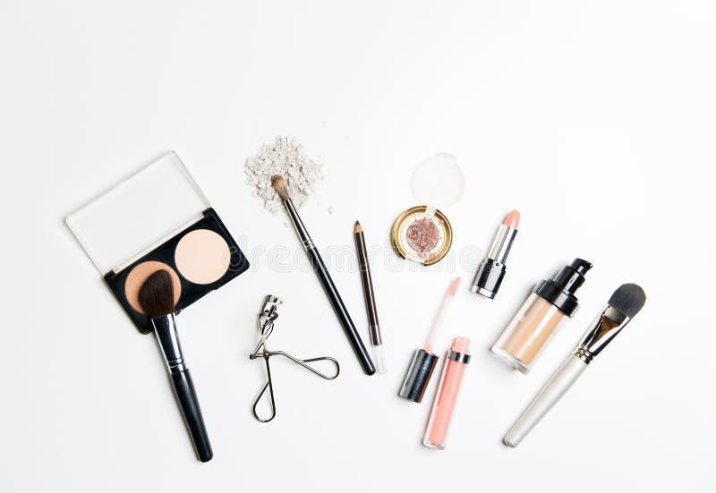 Slut upp av makeupmaterial royaltyfri foto