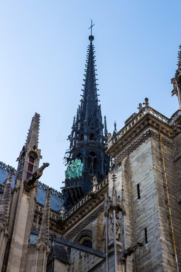 Slut upp av Notre Dame, paris royaltyfri bild