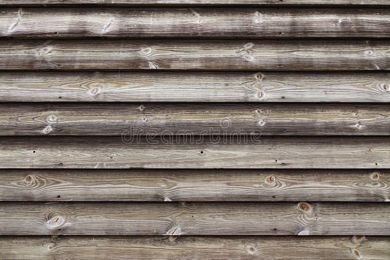 Slut upp av omålade naturliga red ut texturerade lantliga Barnwood arkivfoto