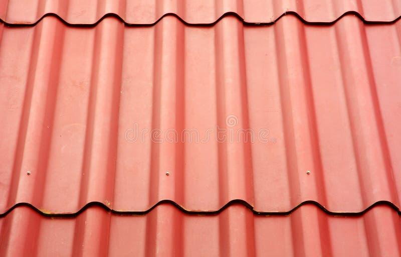 Slut upp av röd taktextur royaltyfria foton