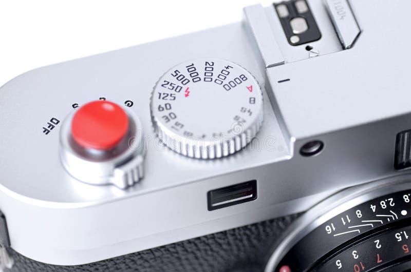 Slut upp av rangefinderkameran fotografering för bildbyråer