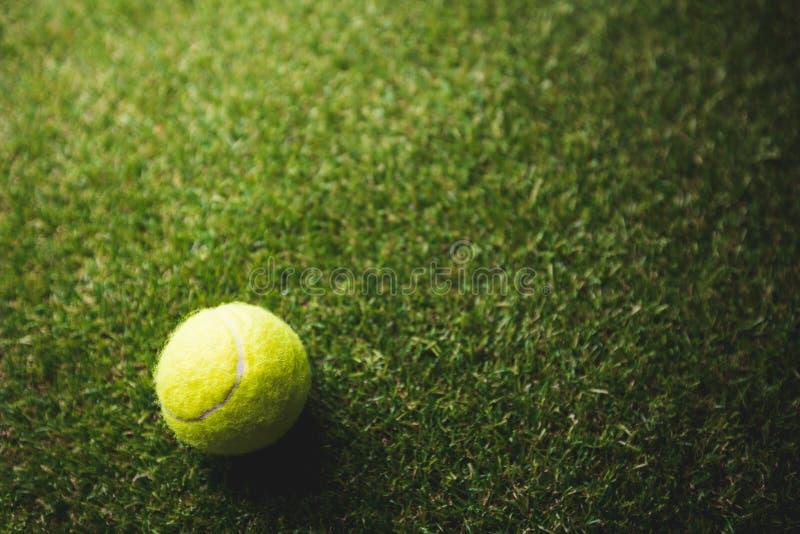 Slut upp av tennisbollen arkivfoto