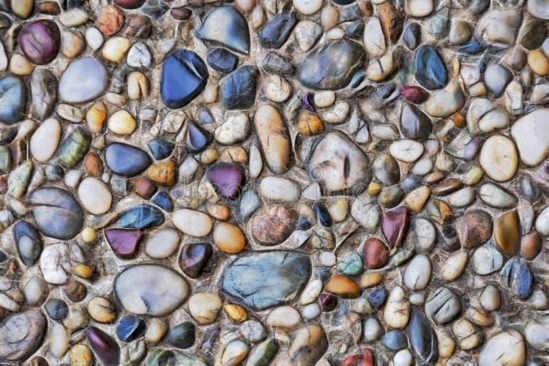 Slut upp dekorativa jordnings- och v?gstenar royaltyfri fotografi
