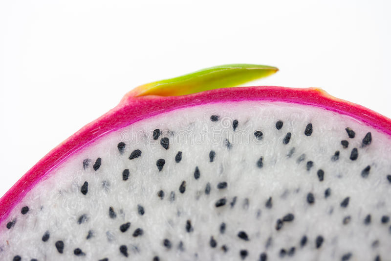 Slut upp Dragon Fruit på vit fotografering för bildbyråer