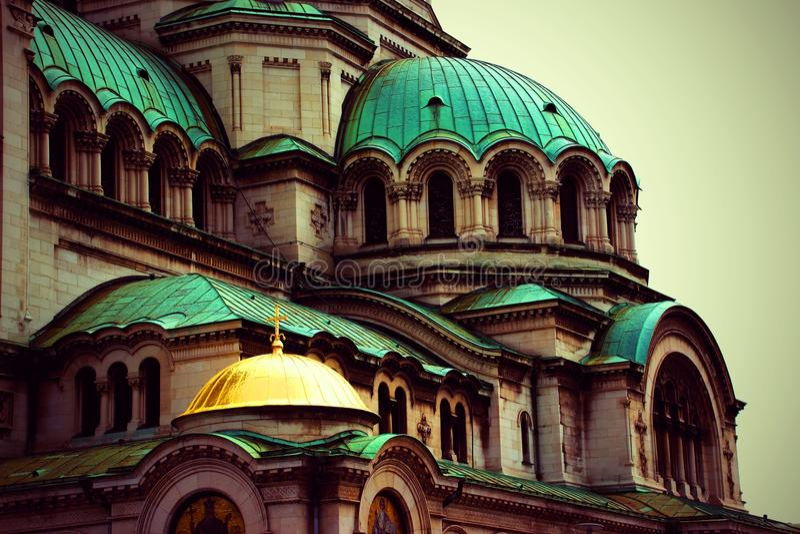 Slut upp från Alexander Nevsky Cathedral, Sofia royaltyfri fotografi