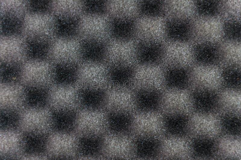 Slut upp grå färgsvamptextur fotografering för bildbyråer