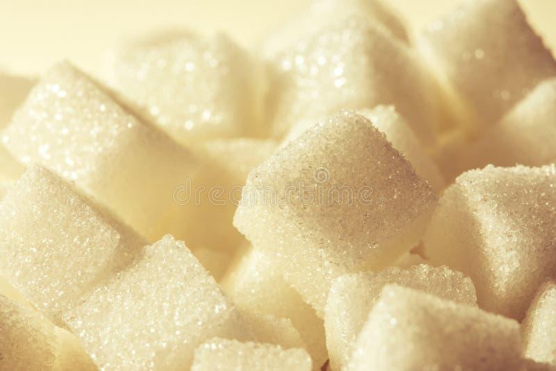 Slut upp kuben för vitt socker arkivbilder
