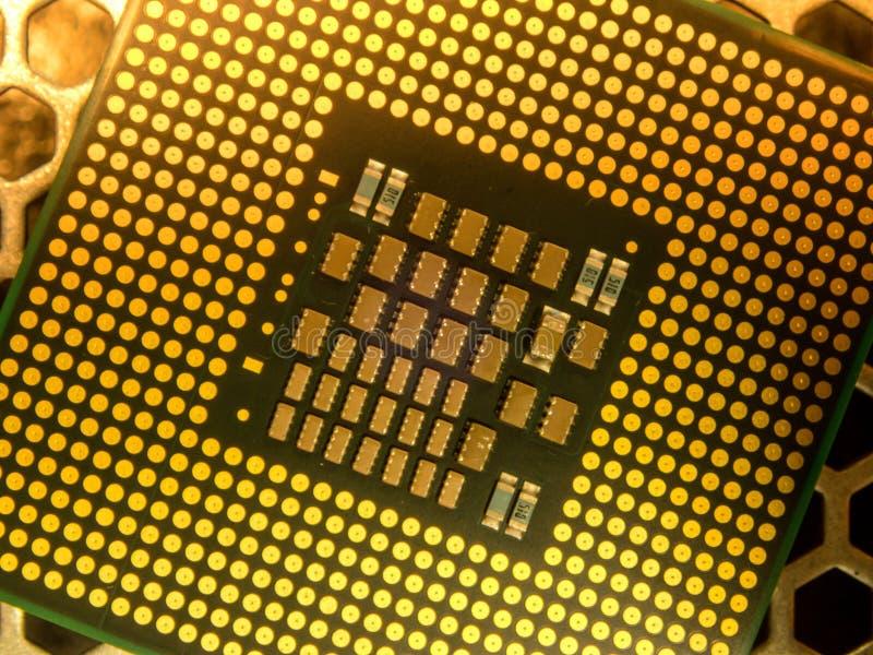 Slut upp processor för fotodatormicro royaltyfria foton