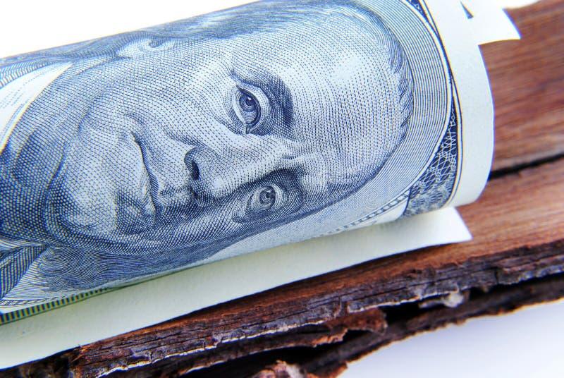 Slut upp valuta av USA royaltyfri bild