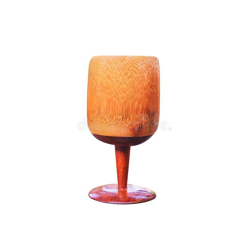 Slutet upp thai exponeringsglas för traditionaen av vatten som göras från isolerad bambu på vit bakgrund, handcrafts royaltyfri fotografi
