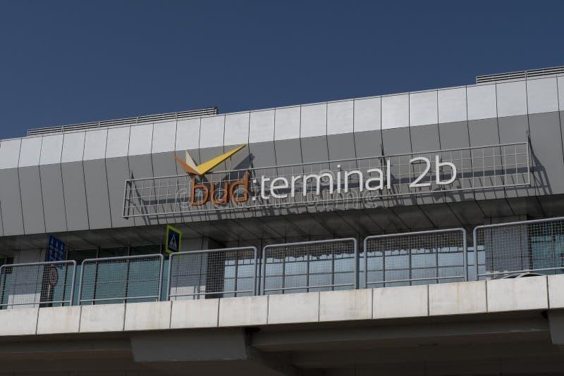 Slutlig byggnad 2b för Budapest flygplats arkivbilder