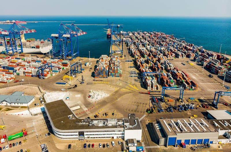 Slutlig port Gdansk f?r DCT arkivbild