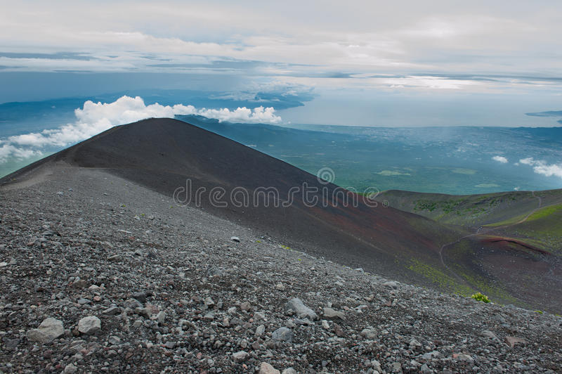 Slutta av Mount Fuji royaltyfria foton
