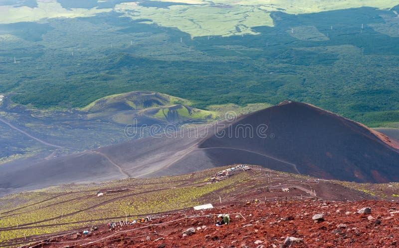 Slutta av Mount Fuji fotografering för bildbyråer