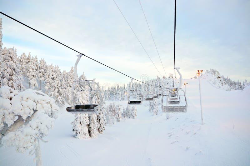 sluttande finland panoramaruka fotografering för bildbyråer