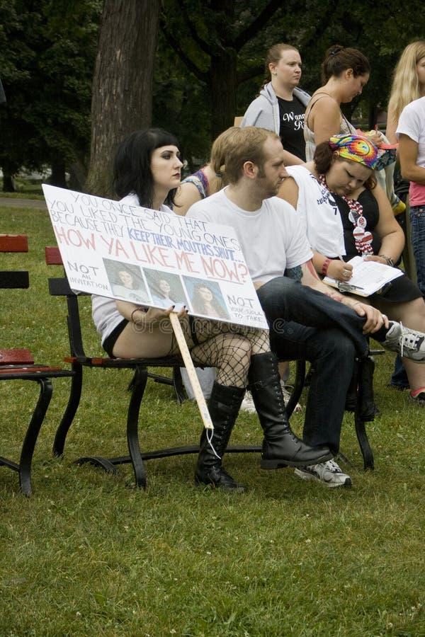 SlutWalk Milwaukee stockbilder