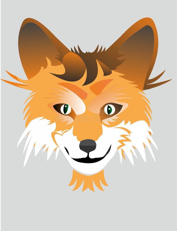 Sluwe vos van het embleem vector illustratie