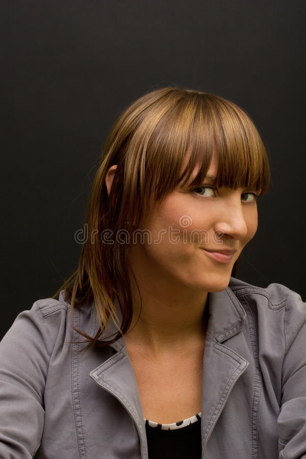 Sly female royalty free stock photography