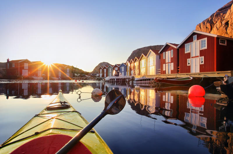 Smögen, Bohuslän, Zweden, Scandinavië stock afbeeldingen
