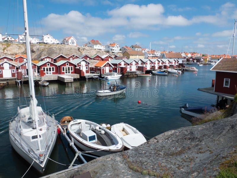 Smögen hamn Sverige royaltyfri foto