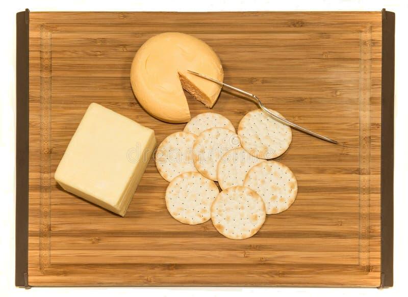 Smällare och ost royaltyfri fotografi