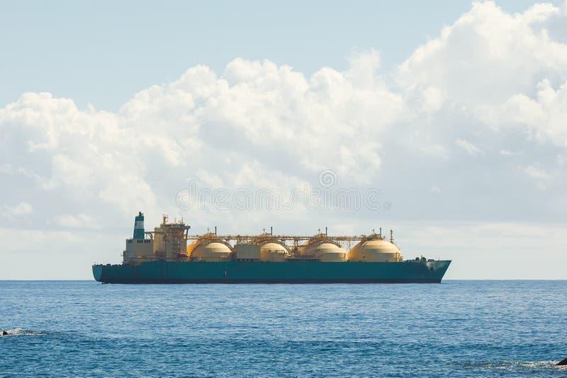 smält skepp för tankfartyg för naturgasLNGtrans. arkivfoto