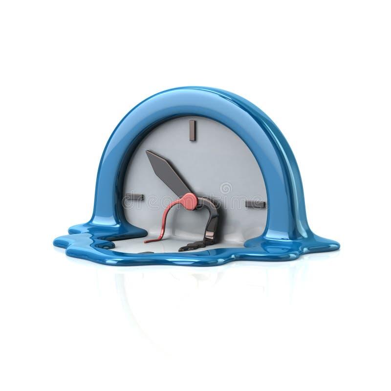 Smältande klocka för overklig stil vektor illustrationer