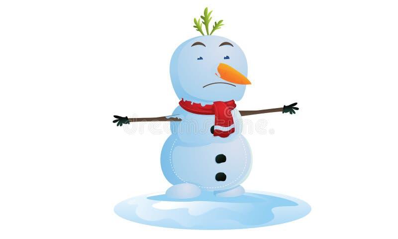 smältande snowman stock illustrationer