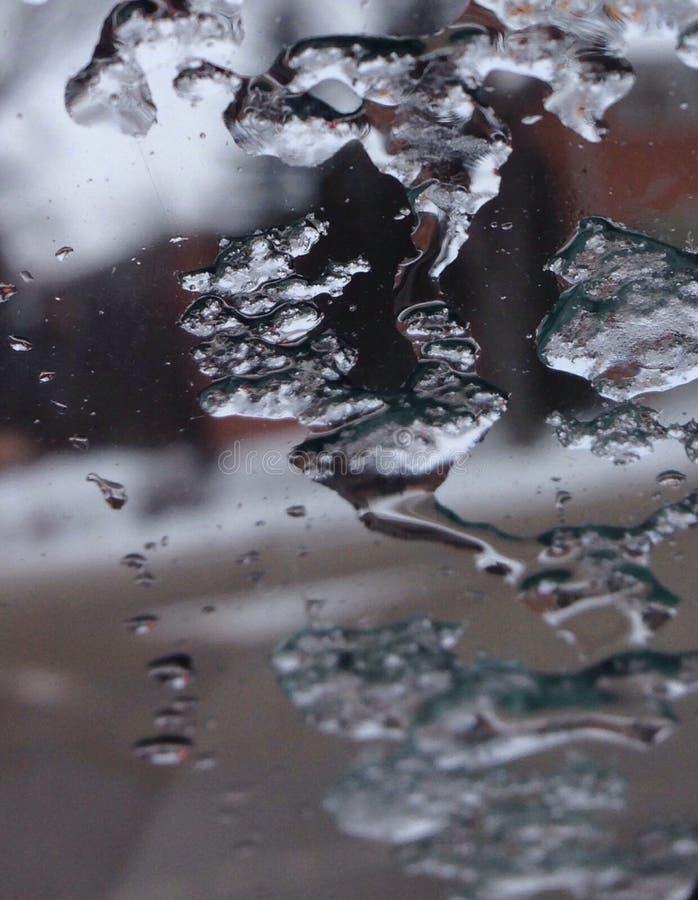 Smältning på exponeringsglaset royaltyfri foto