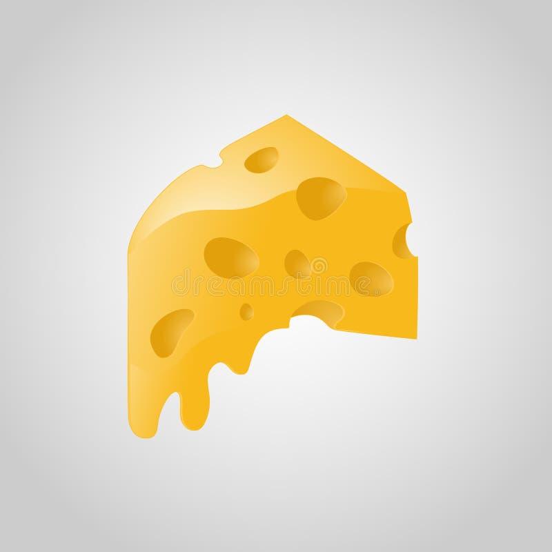 Smältt gul vektor för oststycktriangel arkivfoton