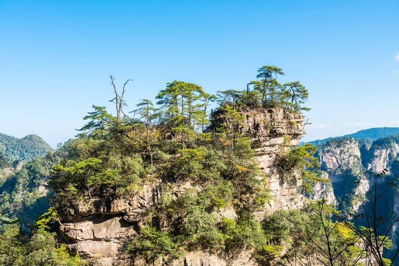 Smärre Zhangjiajie wulingyuan arkivbilder