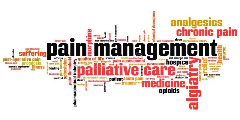 Smärta administrationen stock illustrationer
