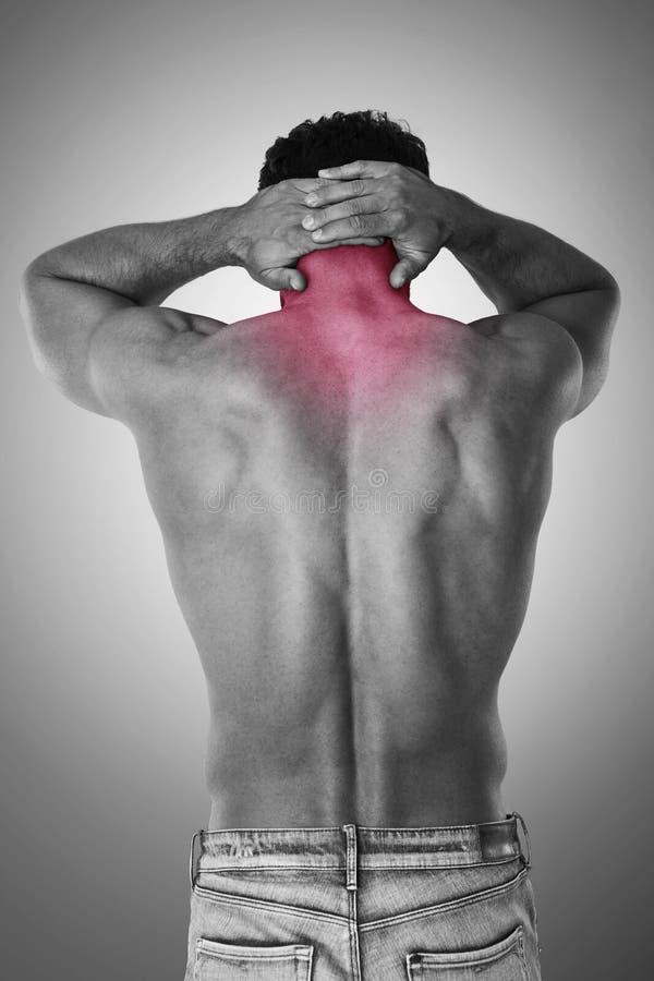 Smärta av hals arkivfoton