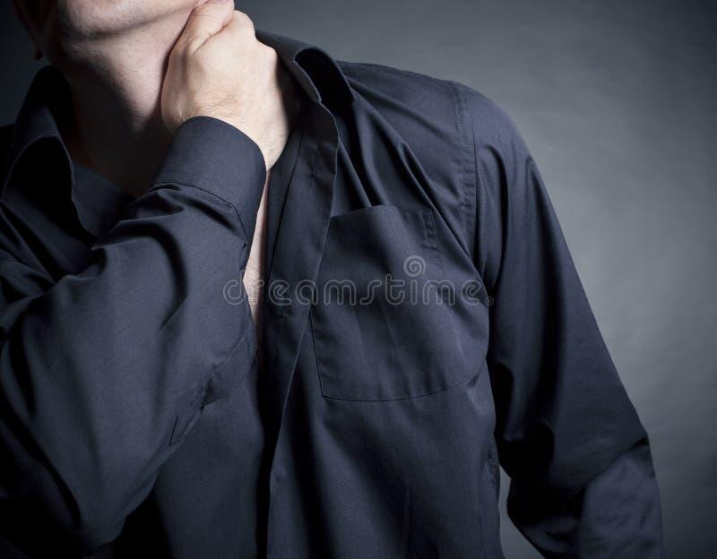 Download Smärta halsen fotografering för bildbyråer. Bild av trött - 27288181