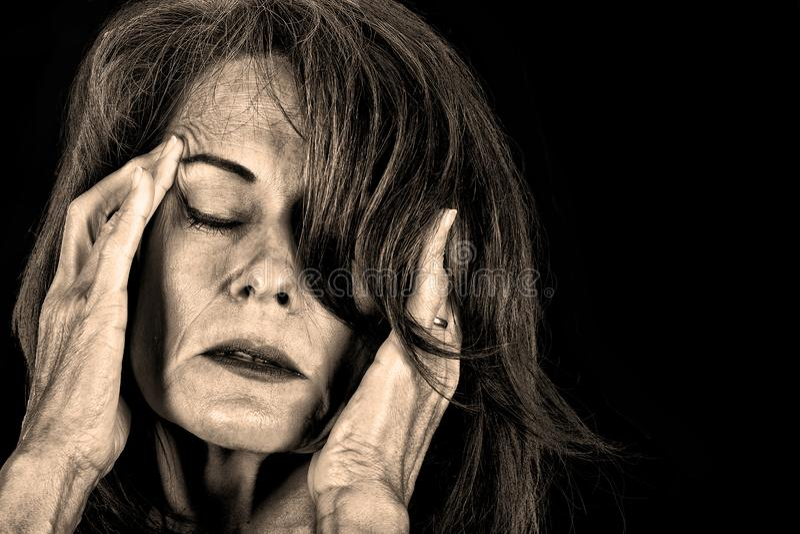 smärta kvinnan royaltyfria foton