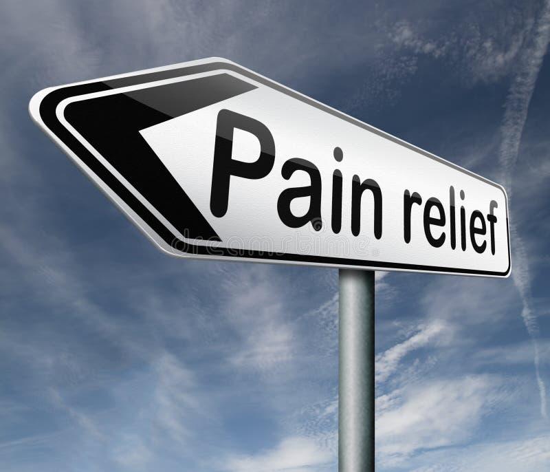 Smärta lättnad vektor illustrationer