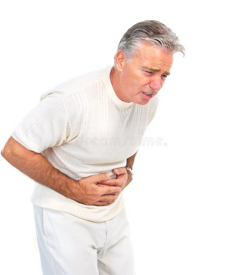 smärta magen arkivbild