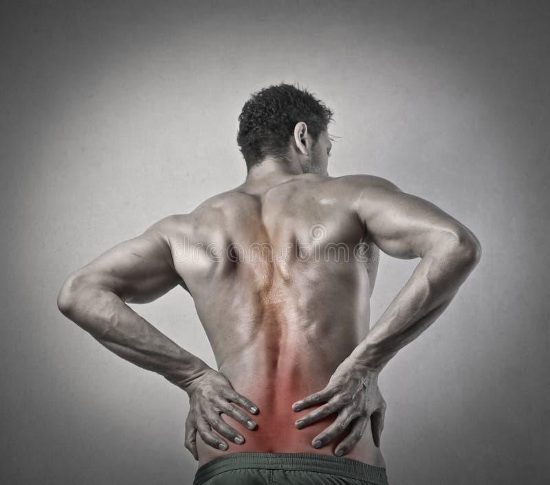 Smärta mannen arkivfoto