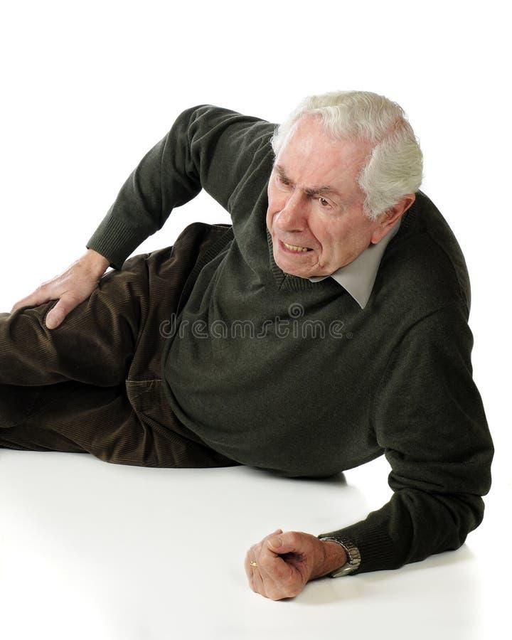 smärta pensionären royaltyfri fotografi