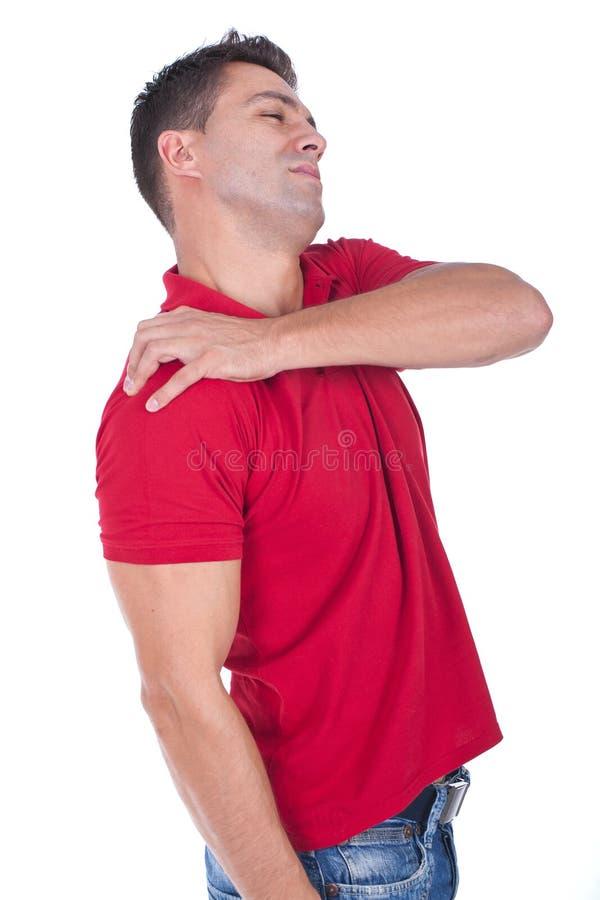 smärta skulderen royaltyfri bild