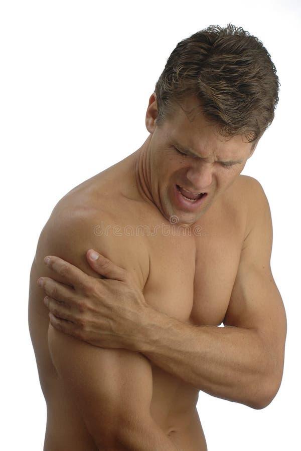 smärta skulderen fotografering för bildbyråer