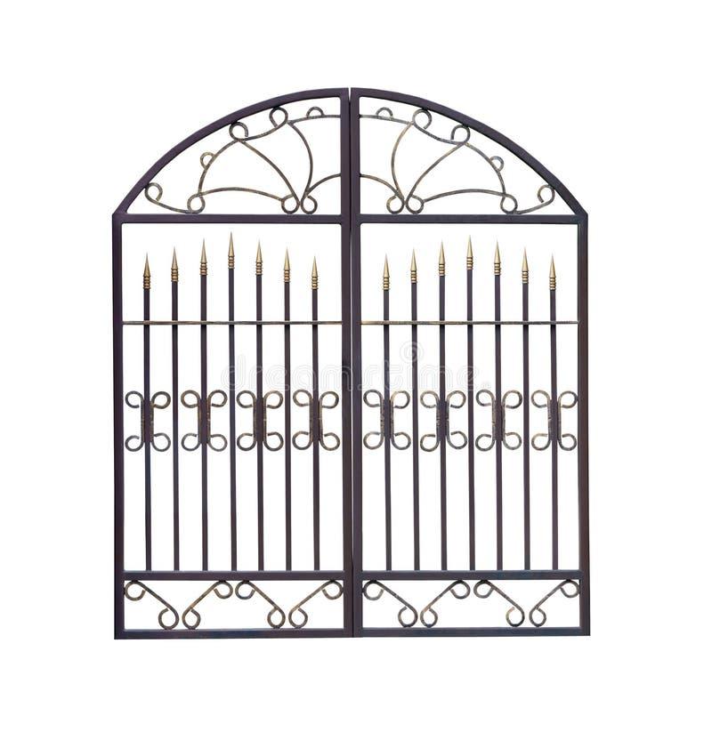 Små dekorativa portar med prydnaden arkivbild