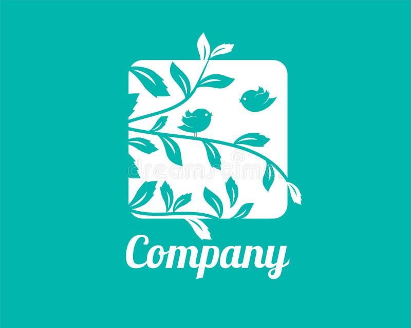 Små fåglar Logo Template stock illustrationer
