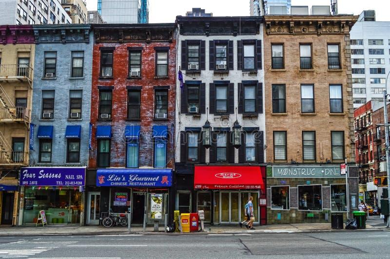 Små och medelstora företag New York City arkivfoton