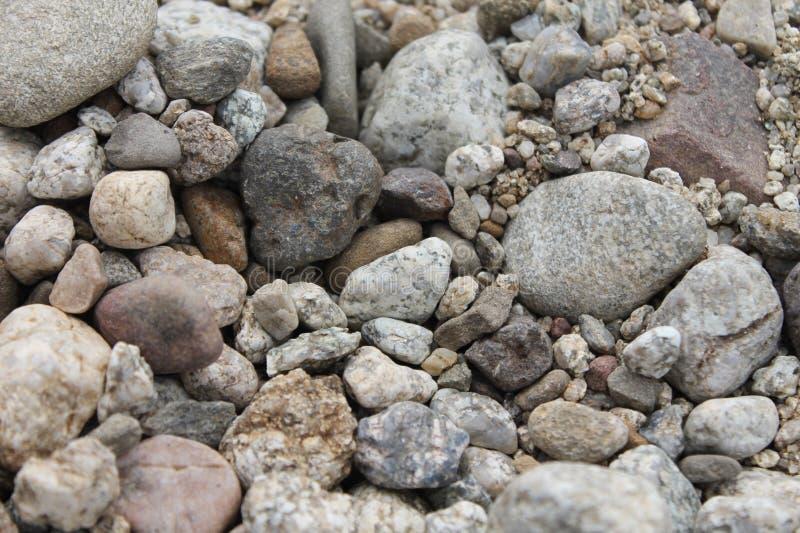 Små och stora stenar royaltyfri fotografi