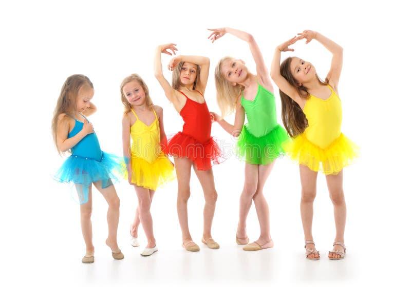 små roliga balettdansörer royaltyfria foton