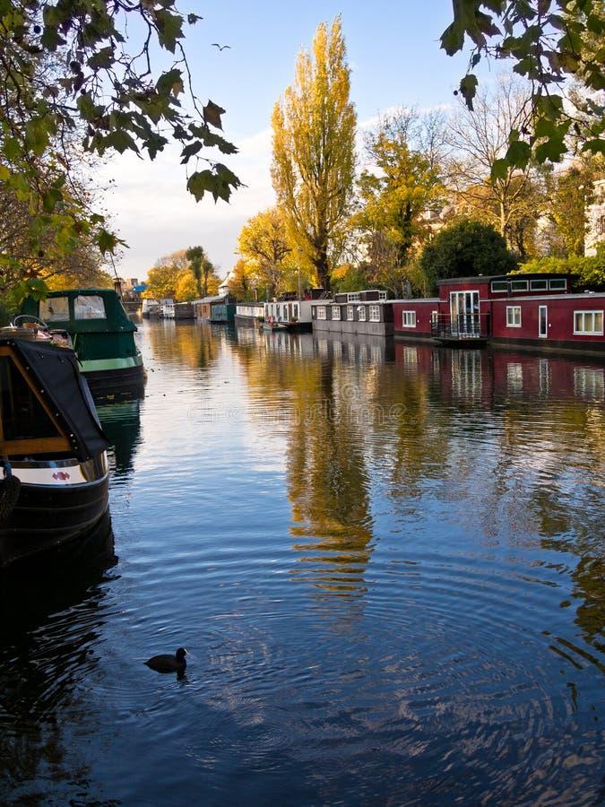 Små Venedig, London, England Arkivbild